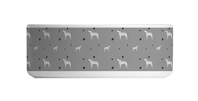 Grey Large Ceramic Dog Bowl - Dotty Dallies
