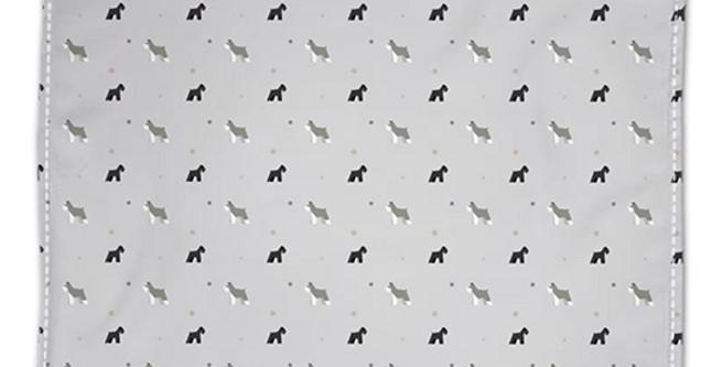 Grey Napkin Set (4) - Snazzy Schnauzers