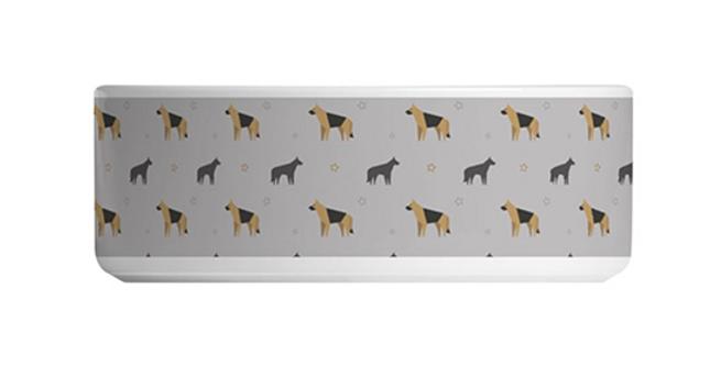 Grey Large Ceramic Dog Bowl - Smart Shepherds