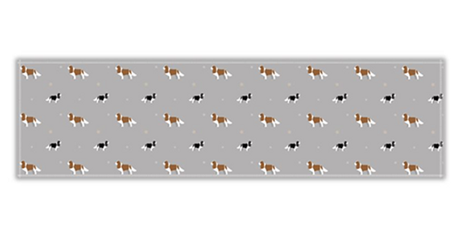 Grey Twill Table Runner - Keen King Charles