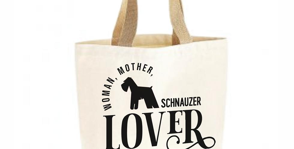 Classic Jute & Canvas Schnauzer Shopper