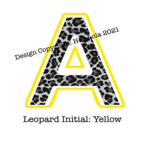 Leopard Initial - Yellow