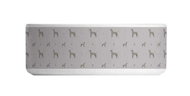 Grey Large Ceramic Dog Bowl - Valiant Weimaraners