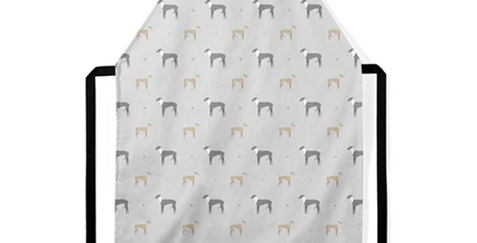 Grey Ultra Suede Apron - Graceful Greyhounds