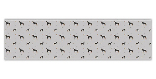 Grey Twill Table Runner - Dazzling Dobermans