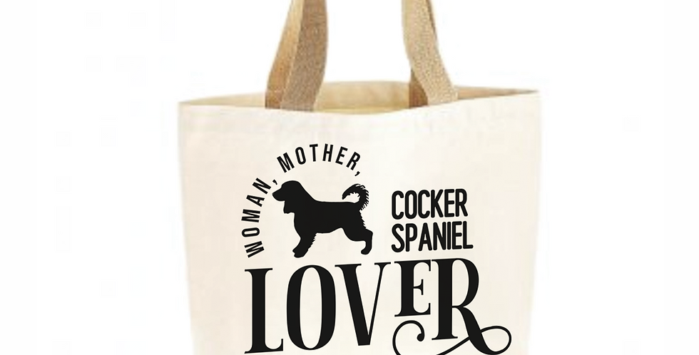 Classic Jute & Canvas Cocker Spaniel Shopper