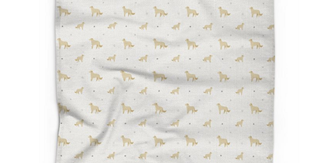 Grey Cotton Linen Tea Towel - Goldens Galore