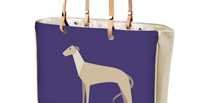 Large Tote Bag - Graceful Greyhounds