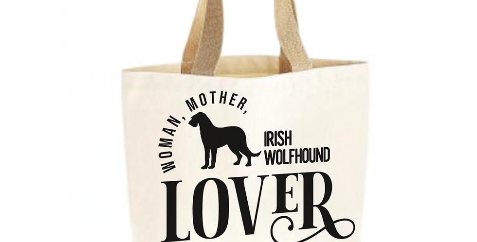 Classic Jute & Canvas Irish Wolfhound Shopper