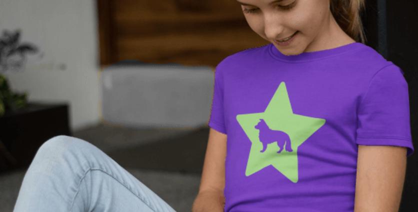 KIDS Bright Star Purple Tee - ANY BREED