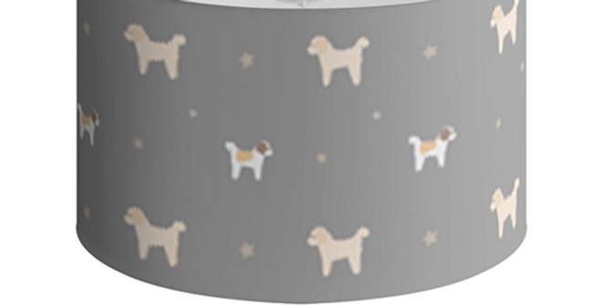 Large Round Ceiling Shade - Cuddly Cavachons