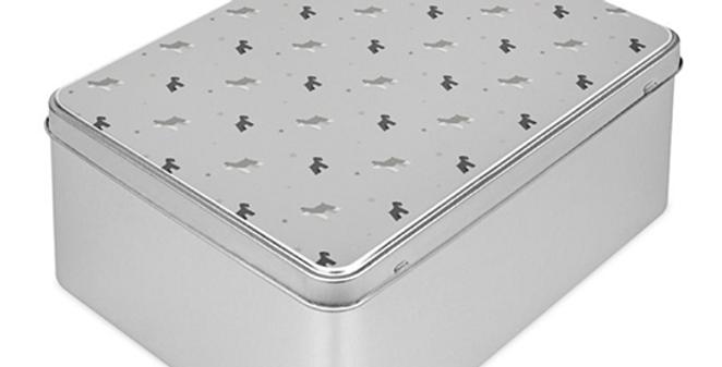Grey Storage Tin - Snazzy Schnauzers