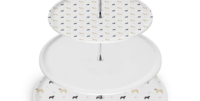 Grey Cake Stand - Perfectly Pug
