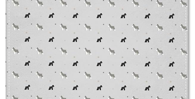 Grey Multi Pocket Squares (2) - Snazzy Schnauzers