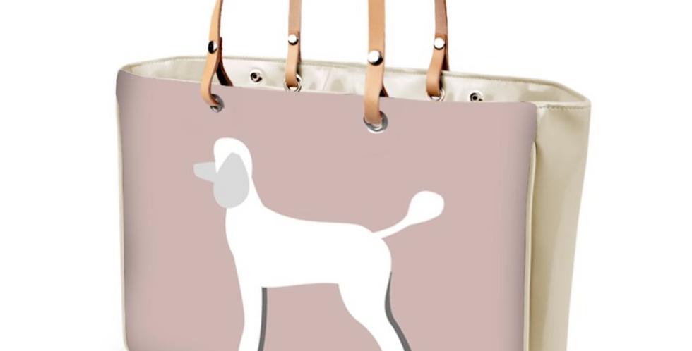 Large Tote Bag - Playful Poodles