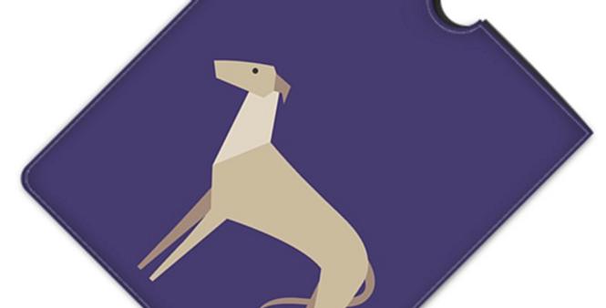 Leather iPad Case (Standard) - Graceful Greyhounds