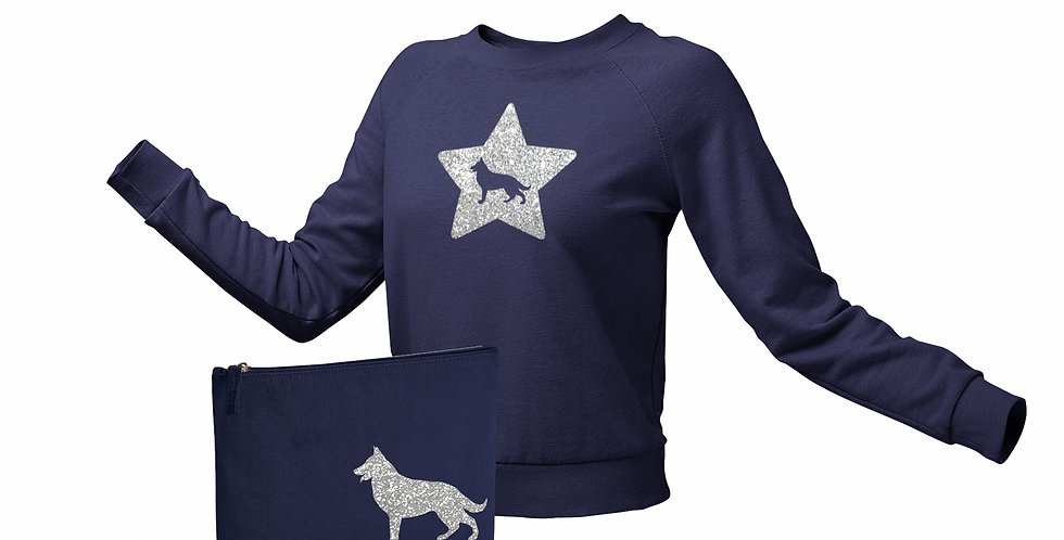 Navy Jumper & Bag Bundle - ANY BREED