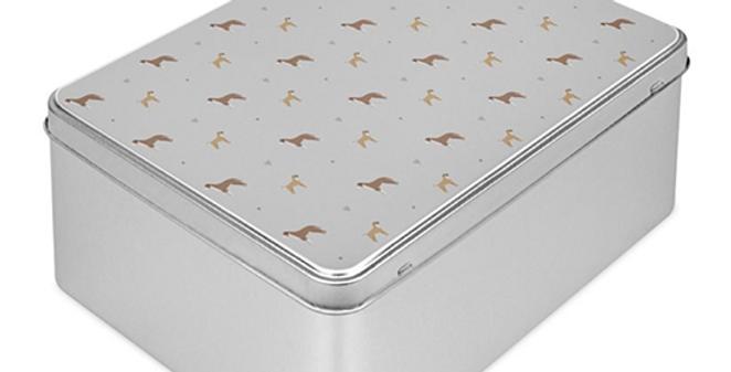 Grey Storage Tin - Bounding Boxers
