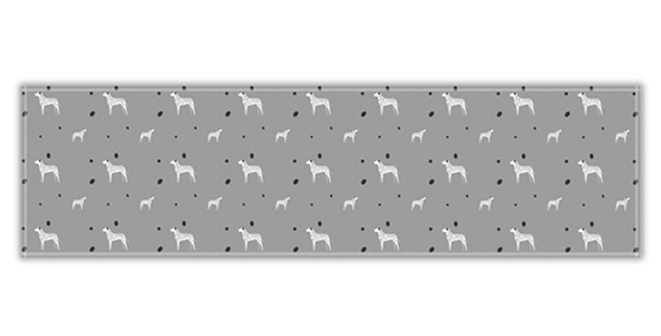 Grey Twill Table Runner - Dotty Dallies