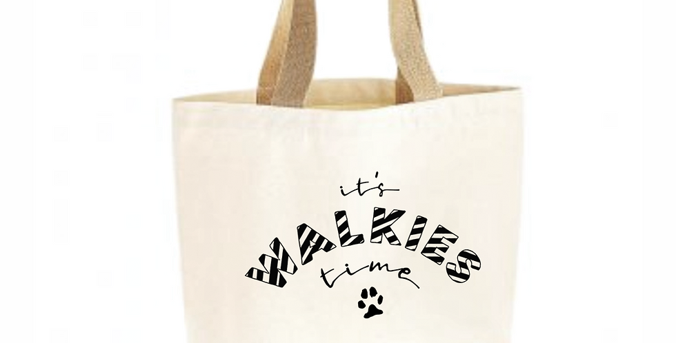 Walkies - Classic Jute & Canvas Shopper
