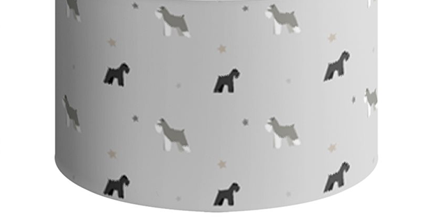 Grey Large Round Ceiling Shade - Snazzy Schnauzers