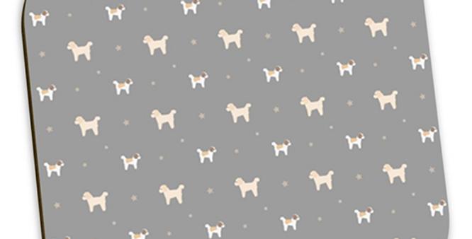Grey Coaster Set (4) - Cuddly Cavachons
