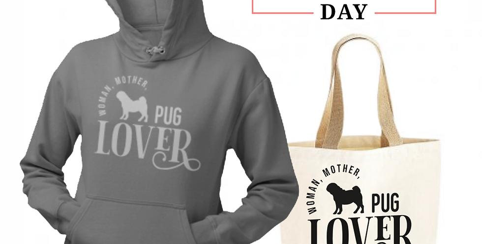 Pug Lover - Shopper & Hoodie Bundle