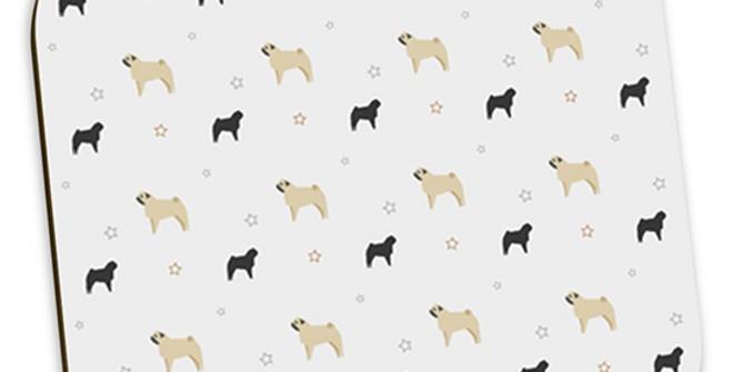 Grey Coaster Set (4) - Perfectly Pug