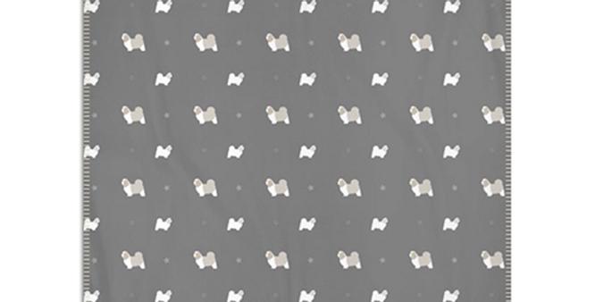 Grey Snuggly Fleece Blanket - Super Tzus