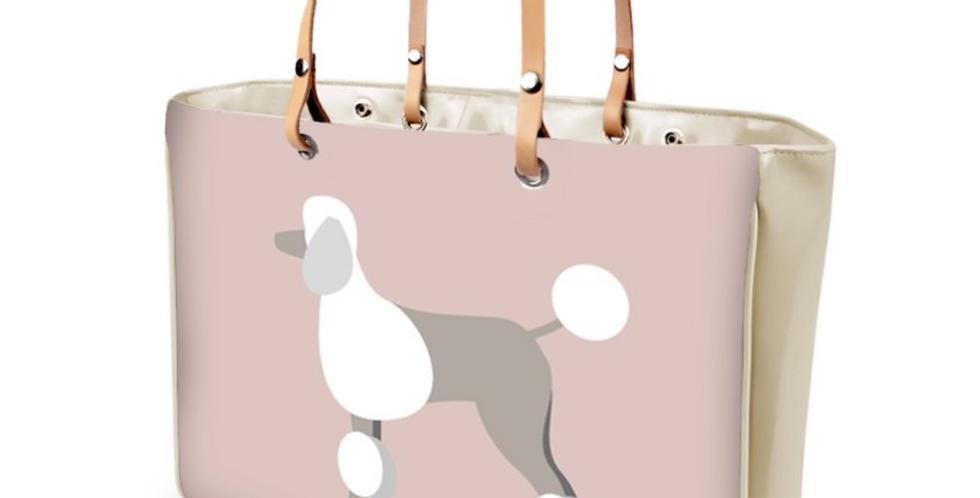 Large Tote Bag - Pom Pom Poodles
