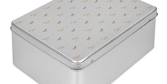 Grey Storage Tin - Cute Cavapoos