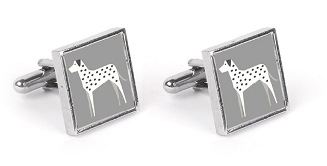 Grey Cufflinks - Dotty Dallies