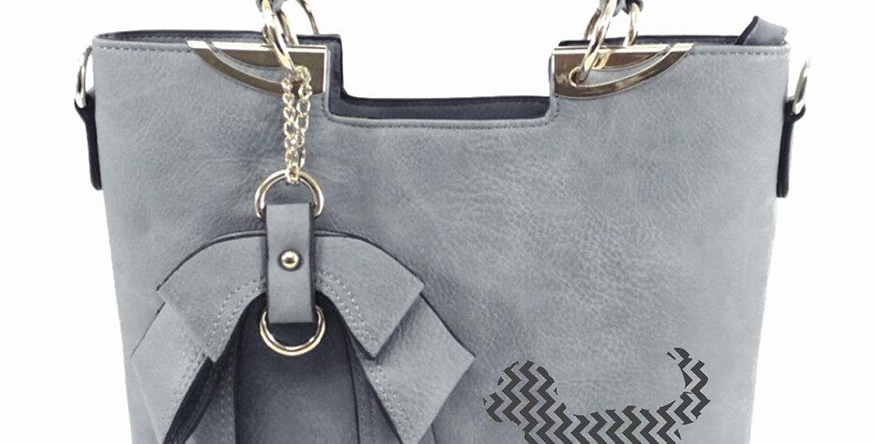 Bow-Wow Tote Bag - Grey