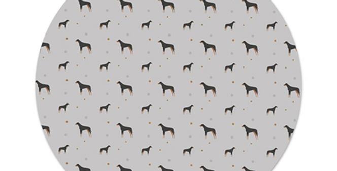 Grey Platter Charger - Dazzling Dobermans