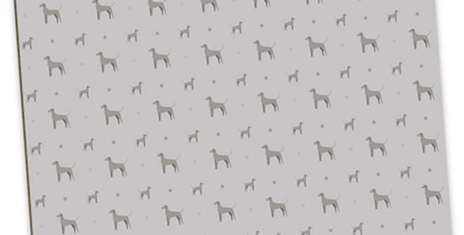 Grey Large Placemat Set (4) - Valiant Weimaraners