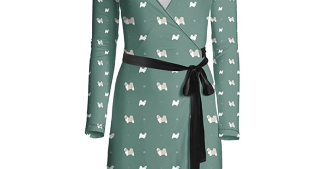 Multi Print Wrap Dress - Super Tzus