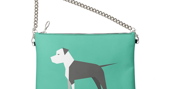 Colour Pop Leather Bag - Sassy Staffies