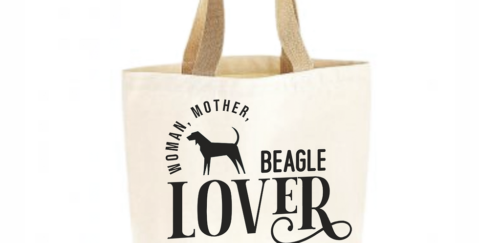 Classic Jute & Canvas Beagle Shopper