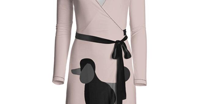 Big Dog Wrap Dress - Pom Pom Poodles