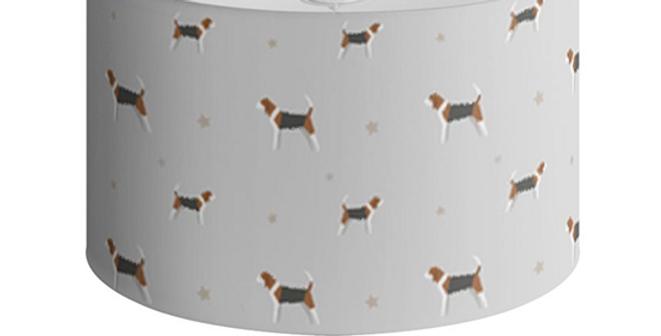 Grey Large Round Ceiling Shade - Busy Beagles