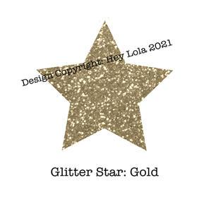 Glitter Star - Gold