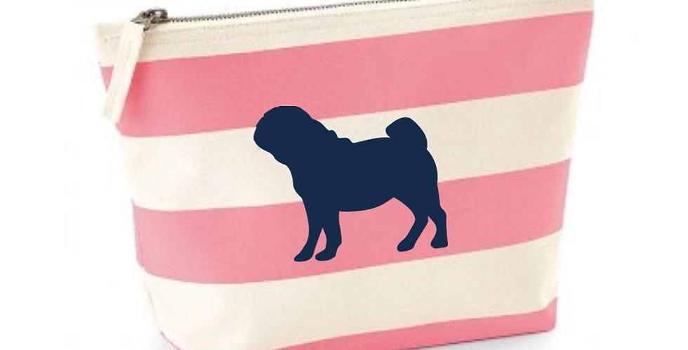 Boardwalk Accessories Bag - Pink Stripe