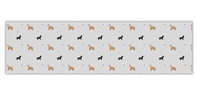 Grey Twill Table Runner - Cheeky Cockers