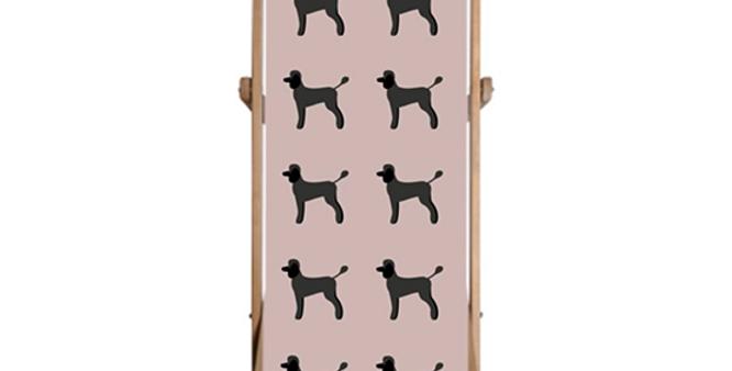 Single Deckchair - Playful Poodles
