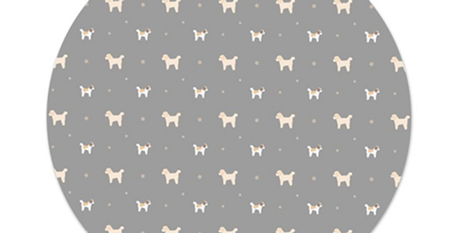Grey Platter Charger - Cuddly Cavachons
