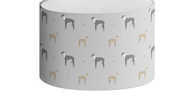 Oval Lampshade - Graceful Greyhounds