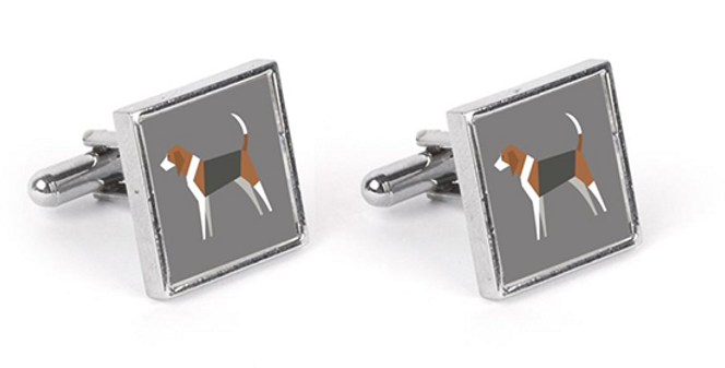 Grey Cufflinks - Busy Beagles
