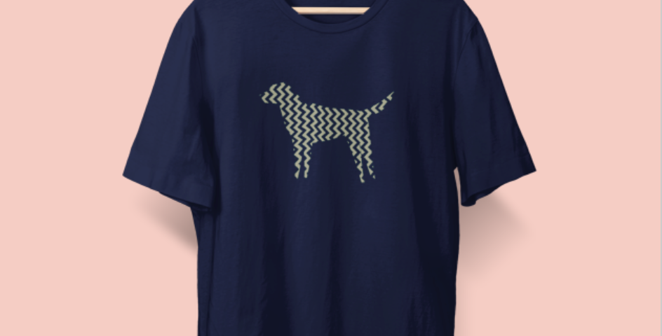Zig Zag Dog Tee - ANY BREED