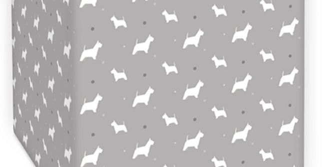 Grey Square Ceiling Shade - Wonderful Westies