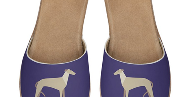Leather Sliders - Graceful Greyhounds